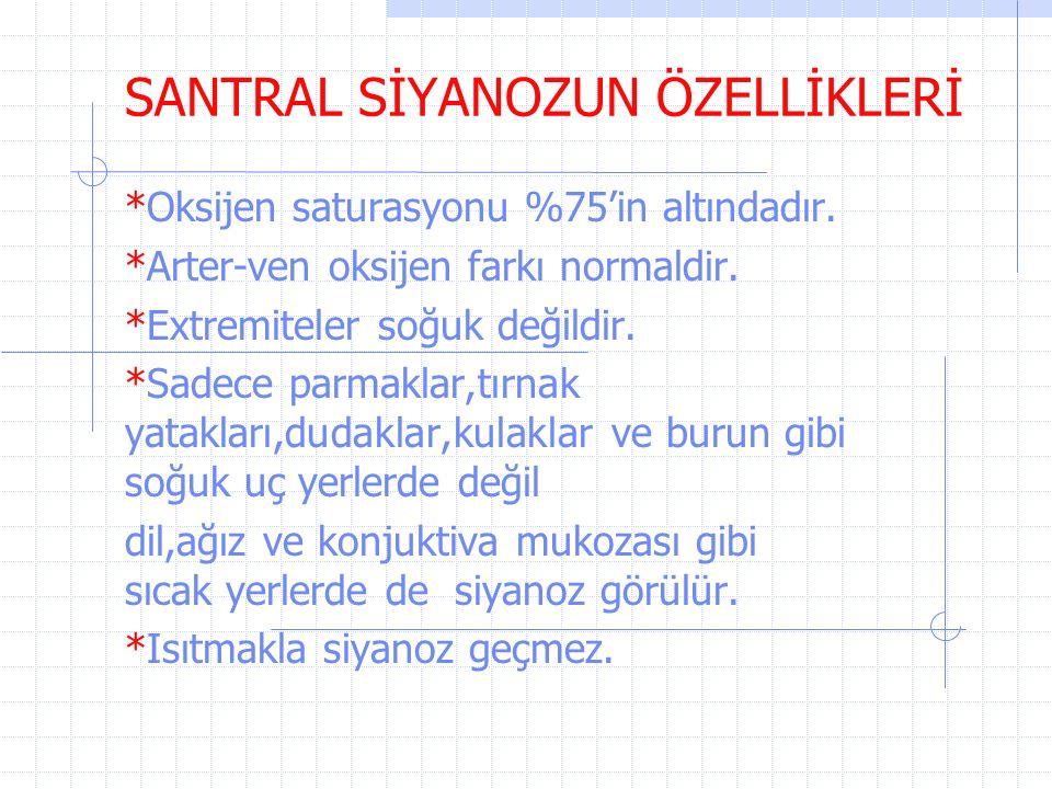 SANTRAL SİYANOZUN ÖZELLİKLERİ