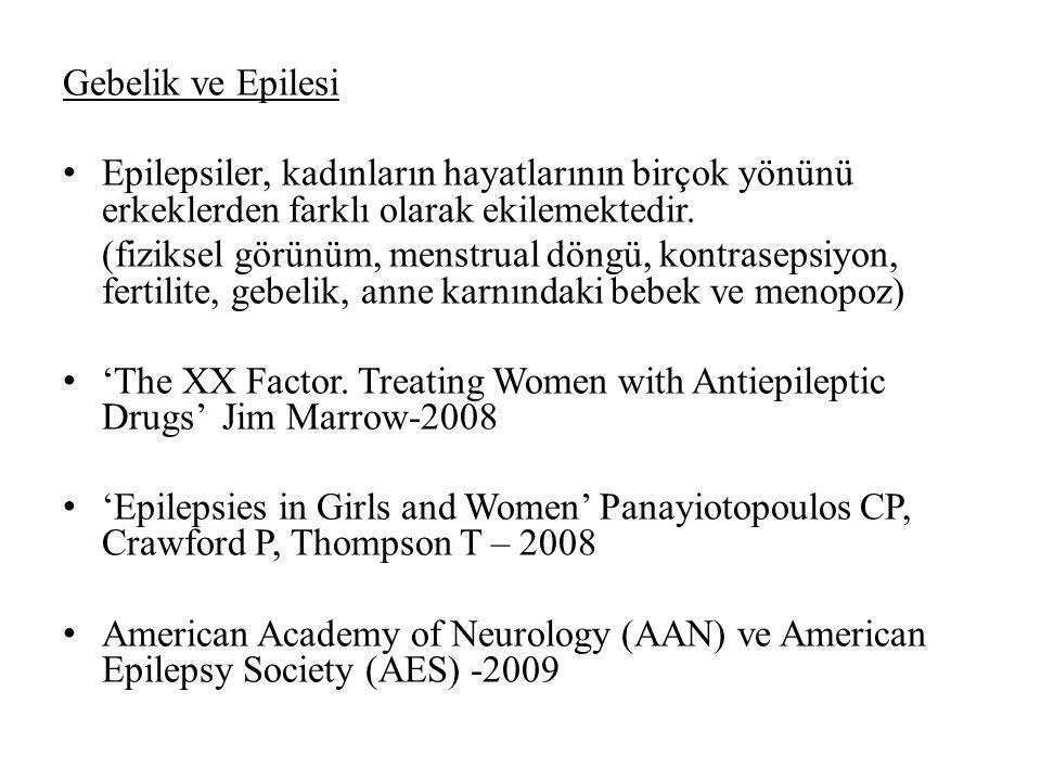 Gebelik ve Epilesi Epilepsiler, kadınların hayatlarının birçok yönünü erkeklerden farklı olarak ekilemektedir.
