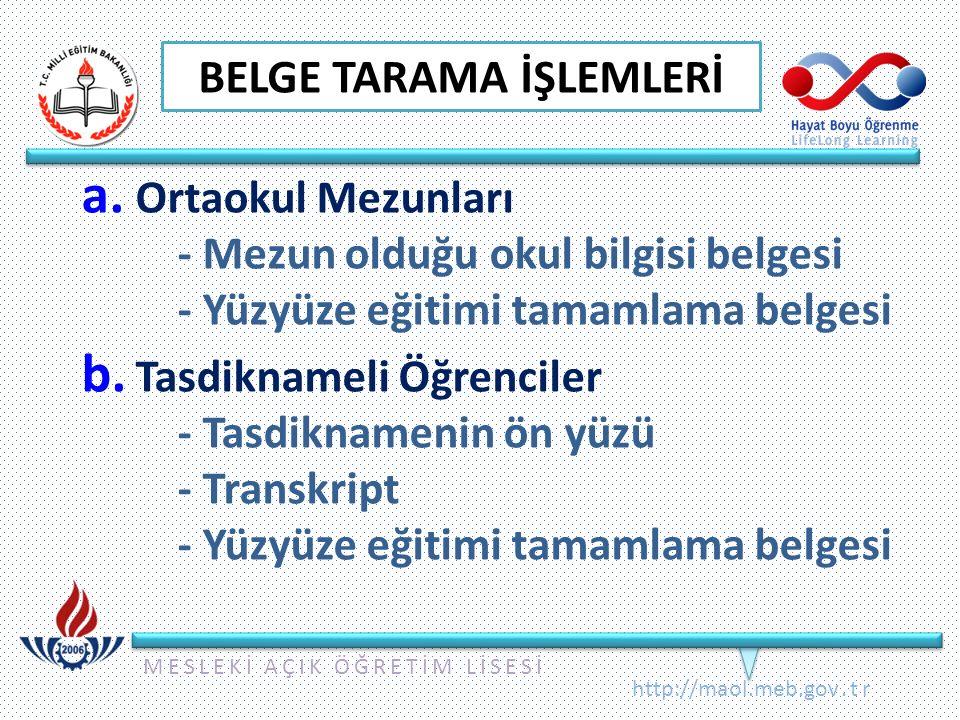 BELGE TARAMA İŞLEMLERİ
