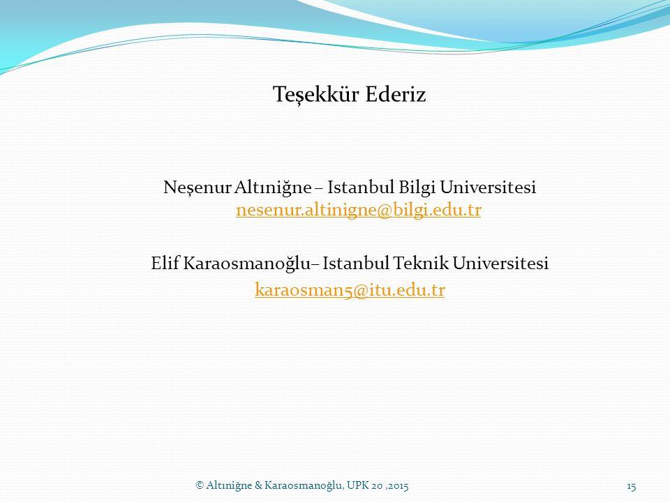 Elif Karaosmanoğlu– Istanbul Teknik Universitesi