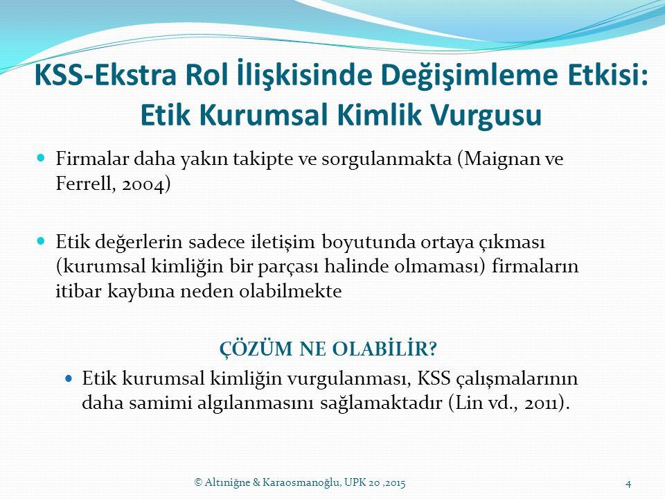 KSS-Ekstra Rol İlişkisinde Değişimleme Etkisi: Etik Kurumsal Kimlik Vurgusu