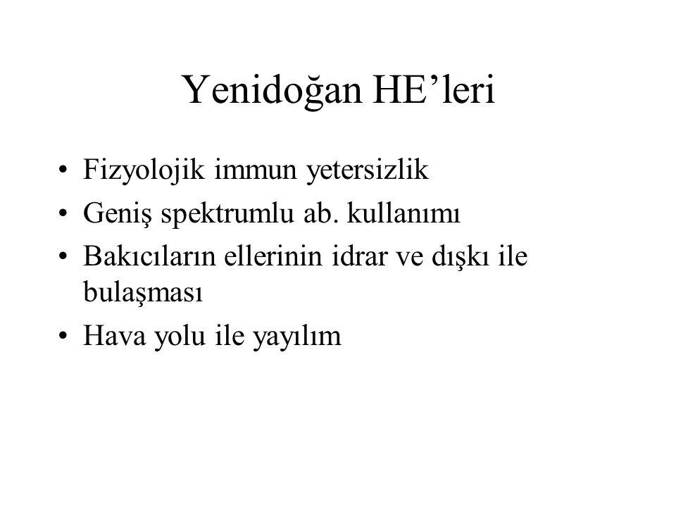 Yenidoğan HE'leri Fizyolojik immun yetersizlik