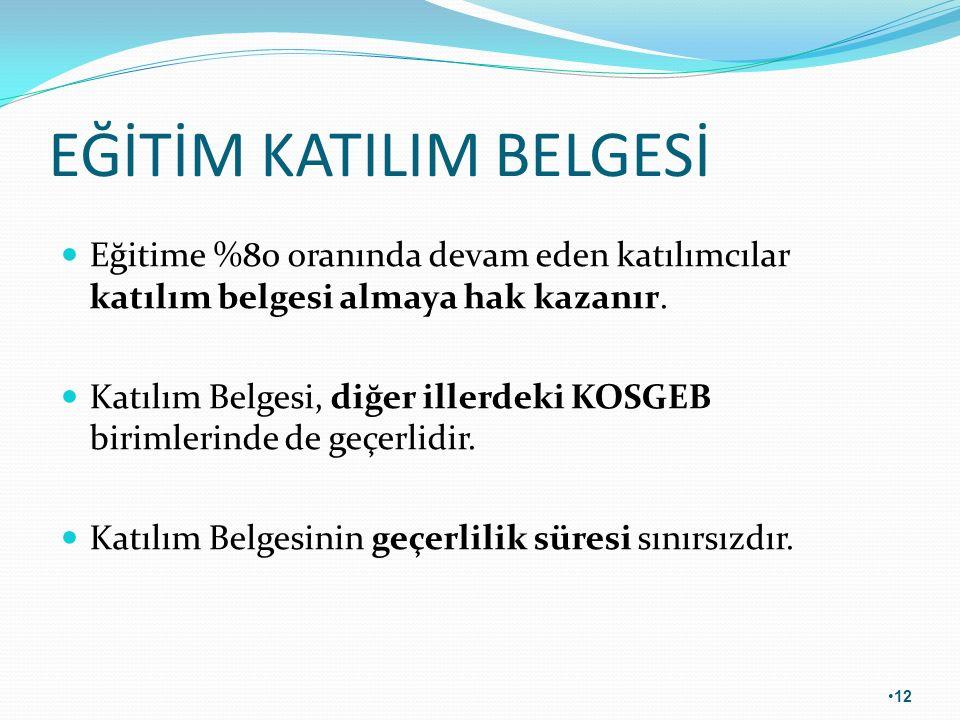 EĞİTİM KATILIM BELGESİ