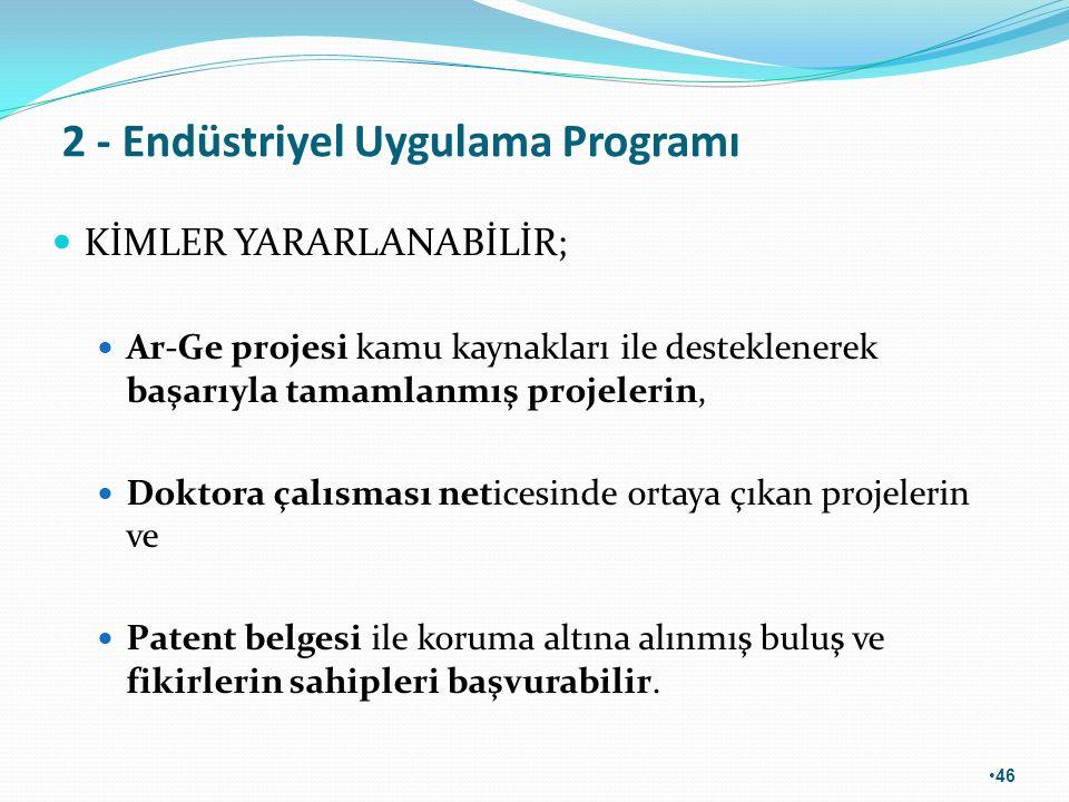 2 - Endüstriyel Uygulama Programı