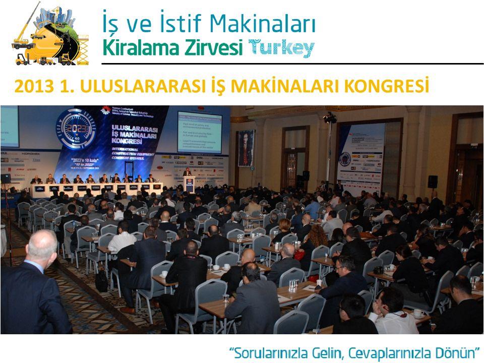 2013 1. ULUSLARARASI İŞ MAKİNALARI KONGRESİ