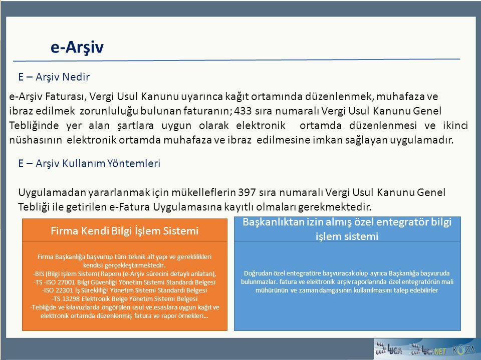 e-Arşiv E – Arşiv Nedir. e-Arşiv Faturası, Vergi Usul Kanunu uyarınca kağıt ortamında düzenlenmek, muhafaza ve.