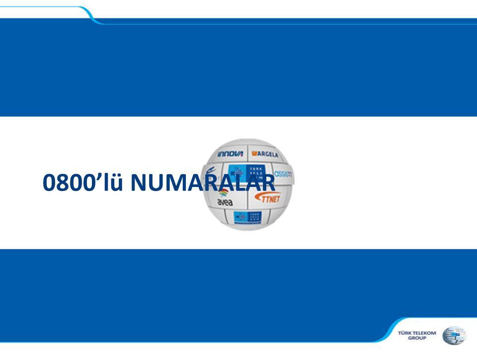 0800'lü NUMARALAR