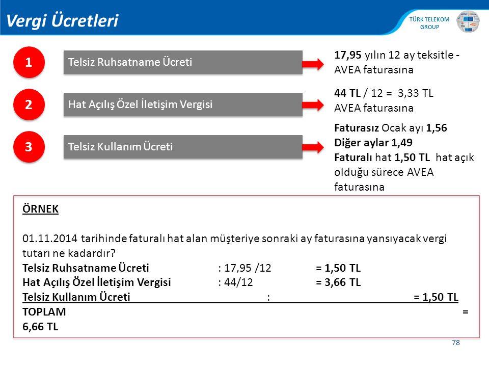 Vergi Ücretleri 1 2 3 17,95 yılın 12 ay teksitle - AVEA faturasına