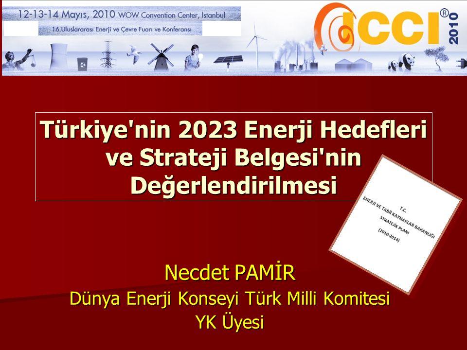 Necdet PAMİR Dünya Enerji Konseyi Türk Milli Komitesi YK Üyesi