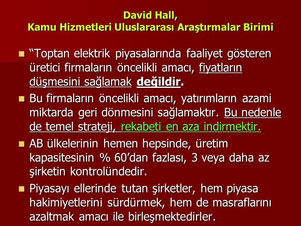 David Hall, Kamu Hizmetleri Uluslararası Araştırmalar Birimi