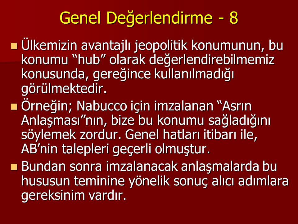 Genel Değerlendirme - 8