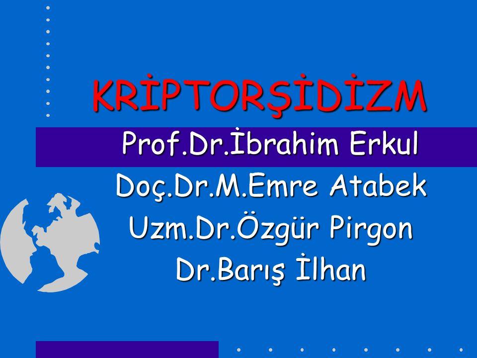 KRİPTORŞİDİZM Prof.Dr.İbrahim Erkul Doç.Dr.M.Emre Atabek