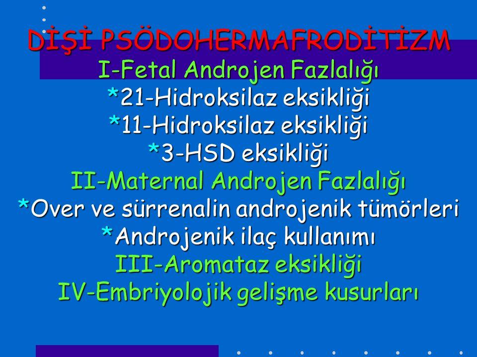 DİŞİ PSÖDOHERMAFRODİTİZM I-Fetal Androjen Fazlalığı