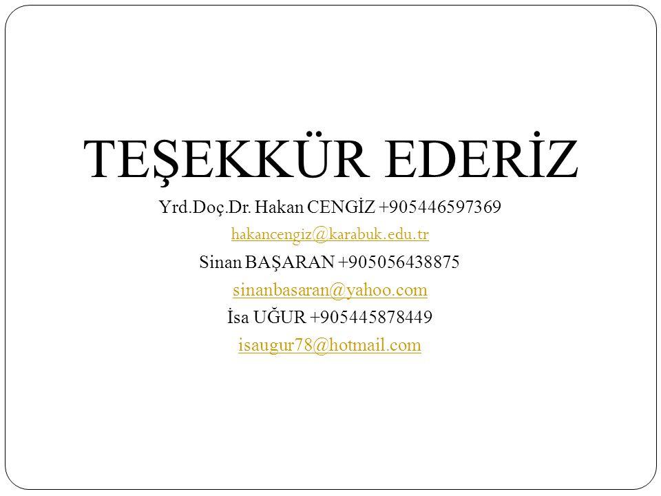 Yrd.Doç.Dr. Hakan CENGİZ +905446597369