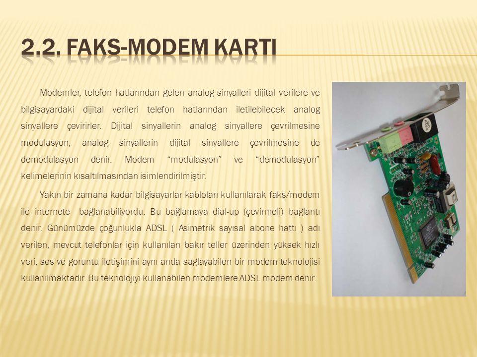 2.2. Faks-Modem KartI