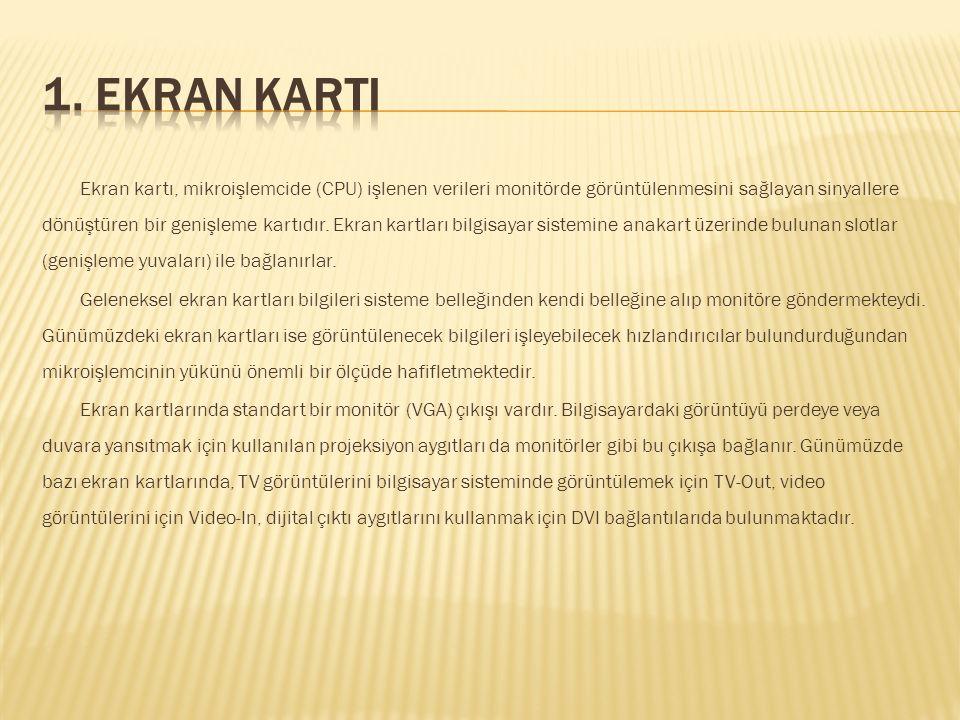 1. EKRAN KARTI