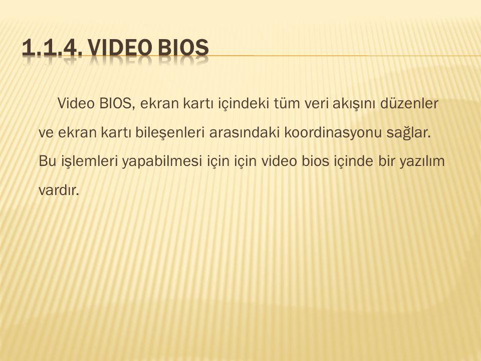 1.1.4. Video BIOS