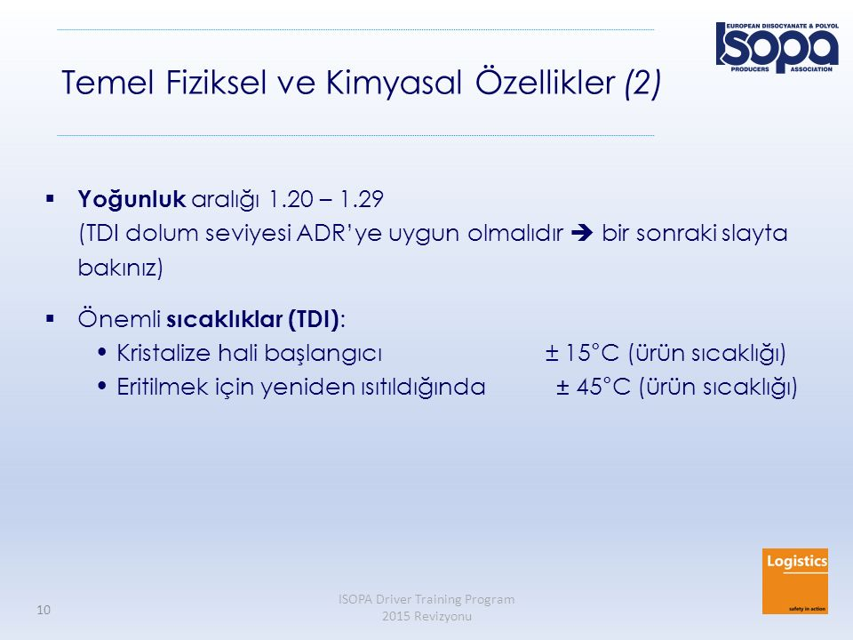 Temel Fiziksel ve Kimyasal Özellikler (2)