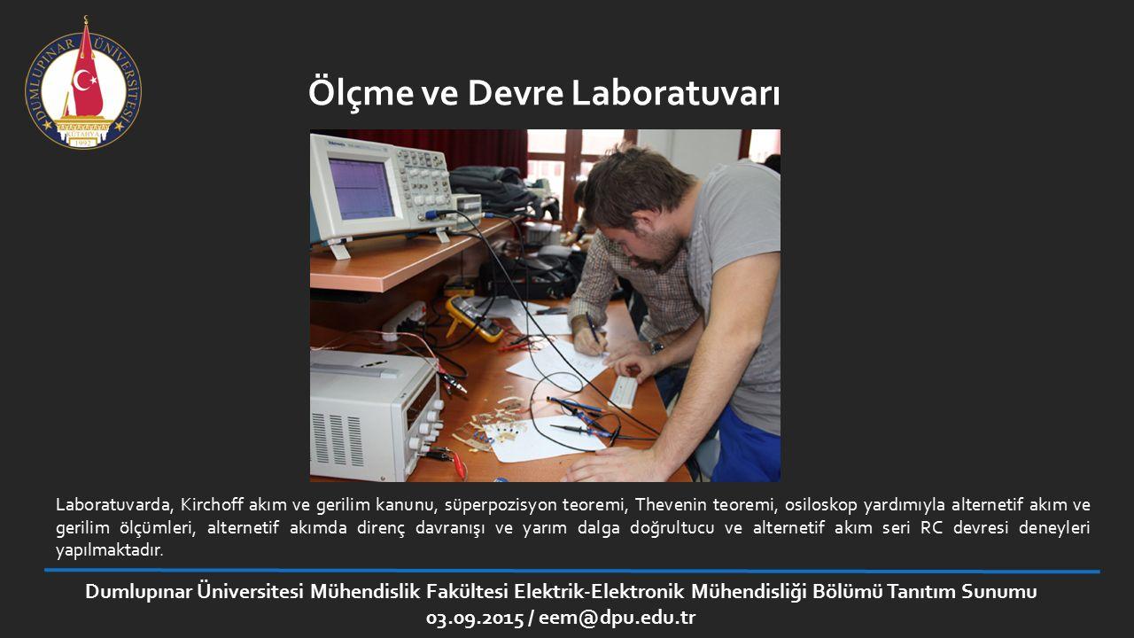 Ölçme ve Devre Laboratuvarı