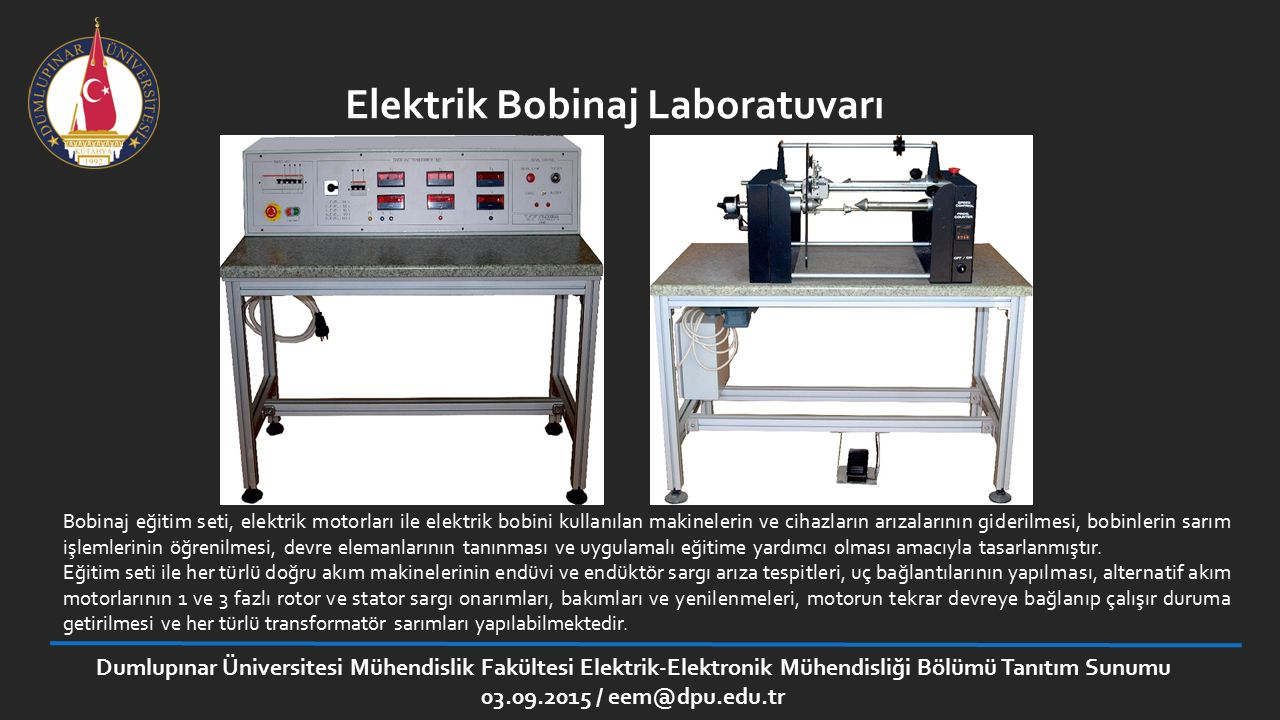 Elektrik Bobinaj Laboratuvarı