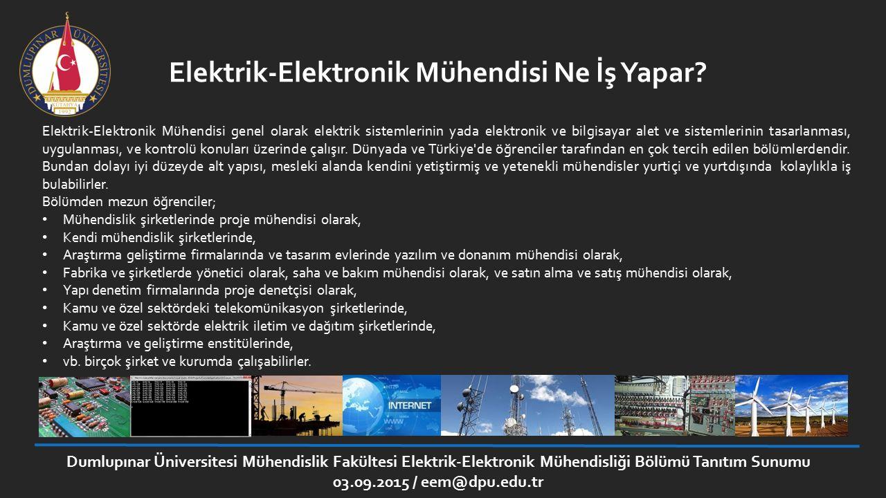 Elektrik-Elektronik Mühendisi Ne İş Yapar