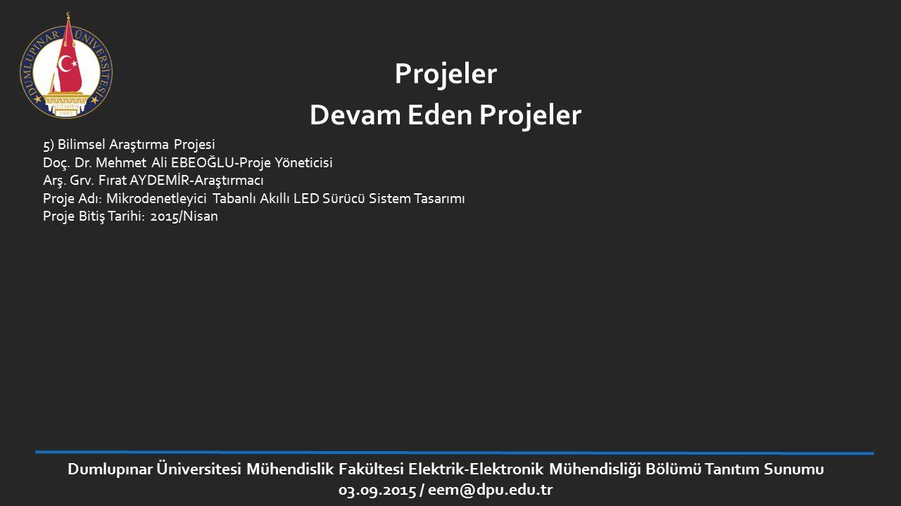 Projeler Devam Eden Projeler