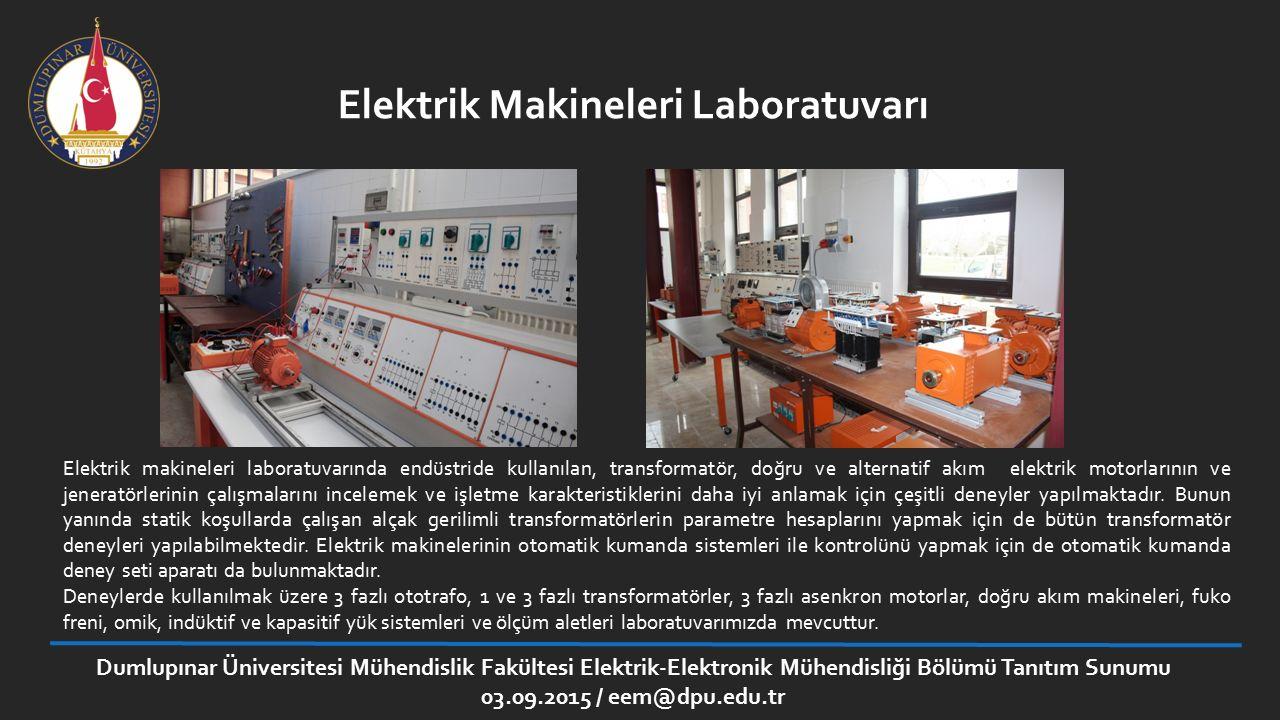 Elektrik Makineleri Laboratuvarı