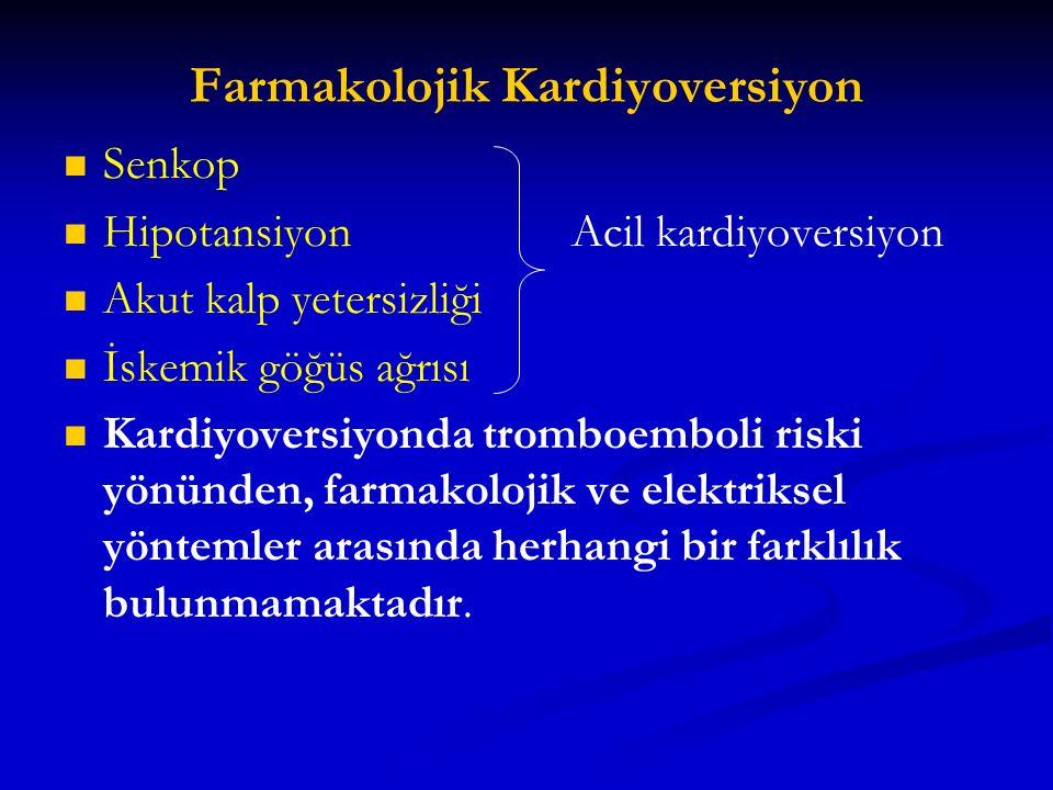 Farmakolojik Kardiyoversiyon
