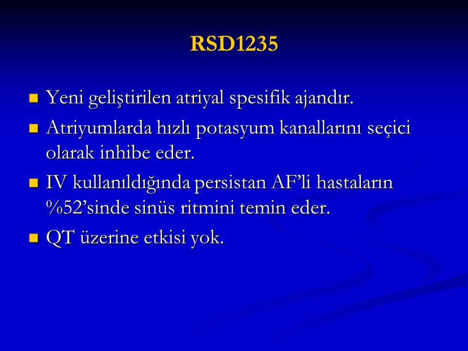 RSD1235 Yeni geliştirilen atriyal spesifik ajandır.