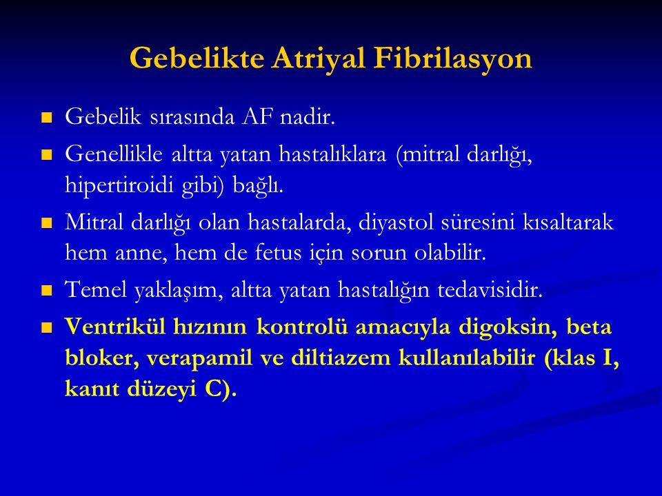 Gebelikte Atriyal Fibrilasyon