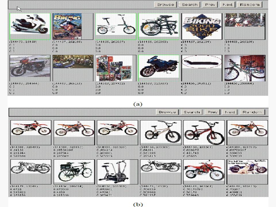 a: «Bike» sorugusu için kullanıcının seçtiği sonuçlar (yeşil ile işaretli)