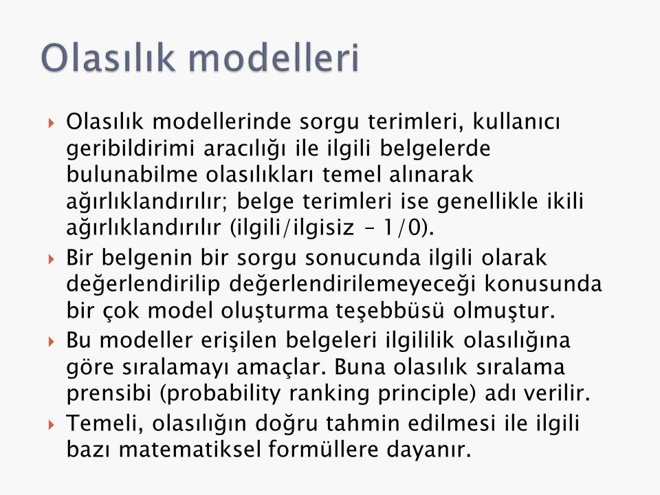 Olasılık modelleri