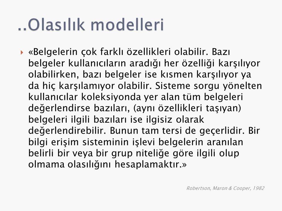 ..Olasılık modelleri