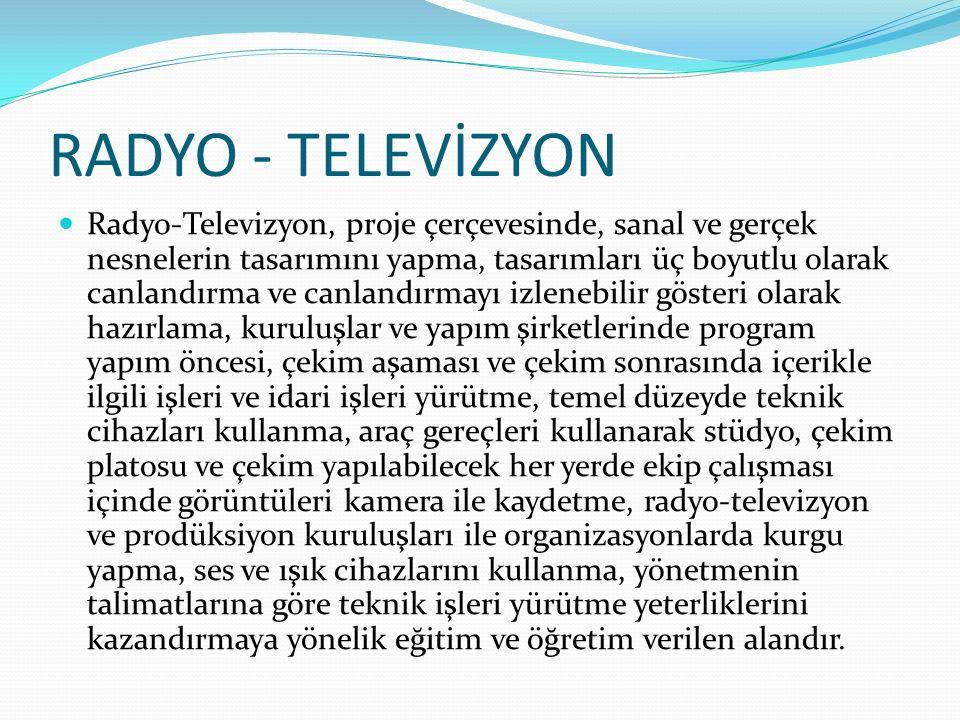 RADYO - TELEVİZYON