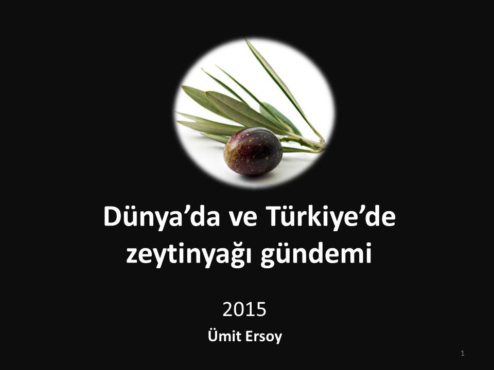 Dünya'da ve Türkiye'de zeytinyağı gündemi