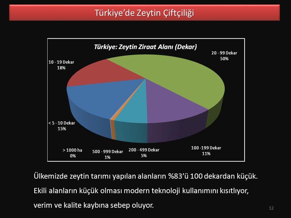Türkiye'de Zeytin Çiftçiliği