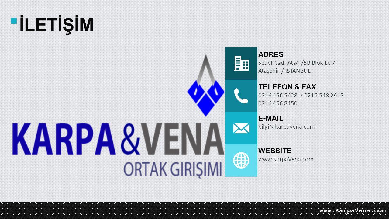 İLETİŞİM ADRES TELEFON & FAX E-MAIL WEBSITE
