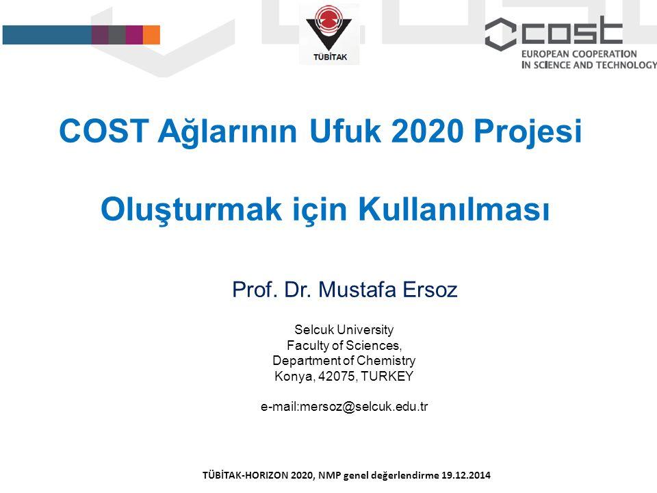 COST Ağlarının Ufuk 2020 Projesi