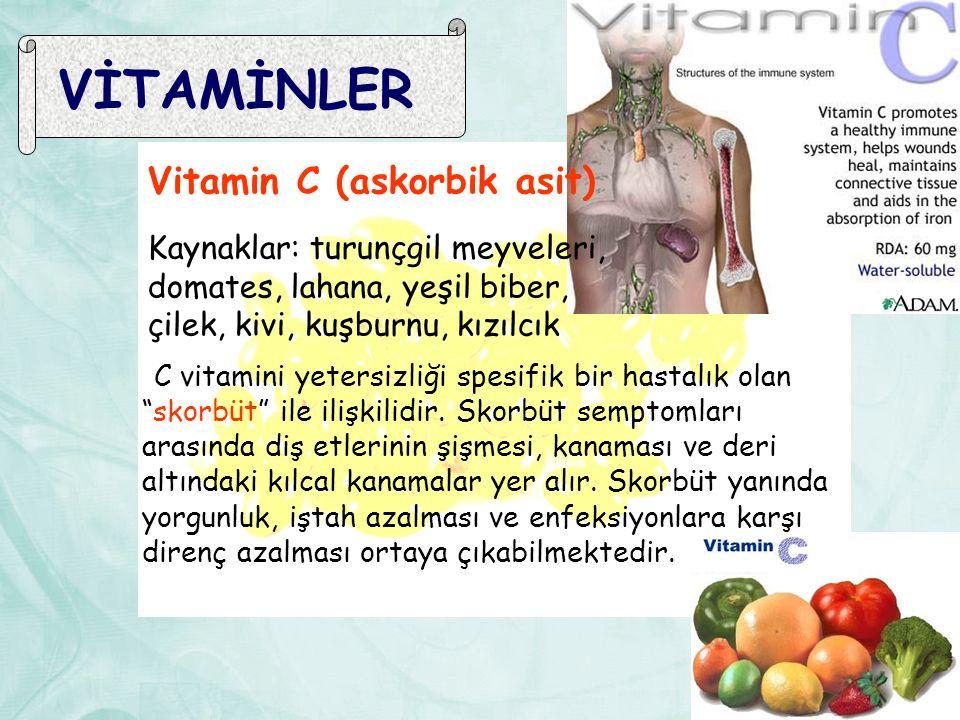 VİTAMİNLER Vitamin C (askorbik asit)