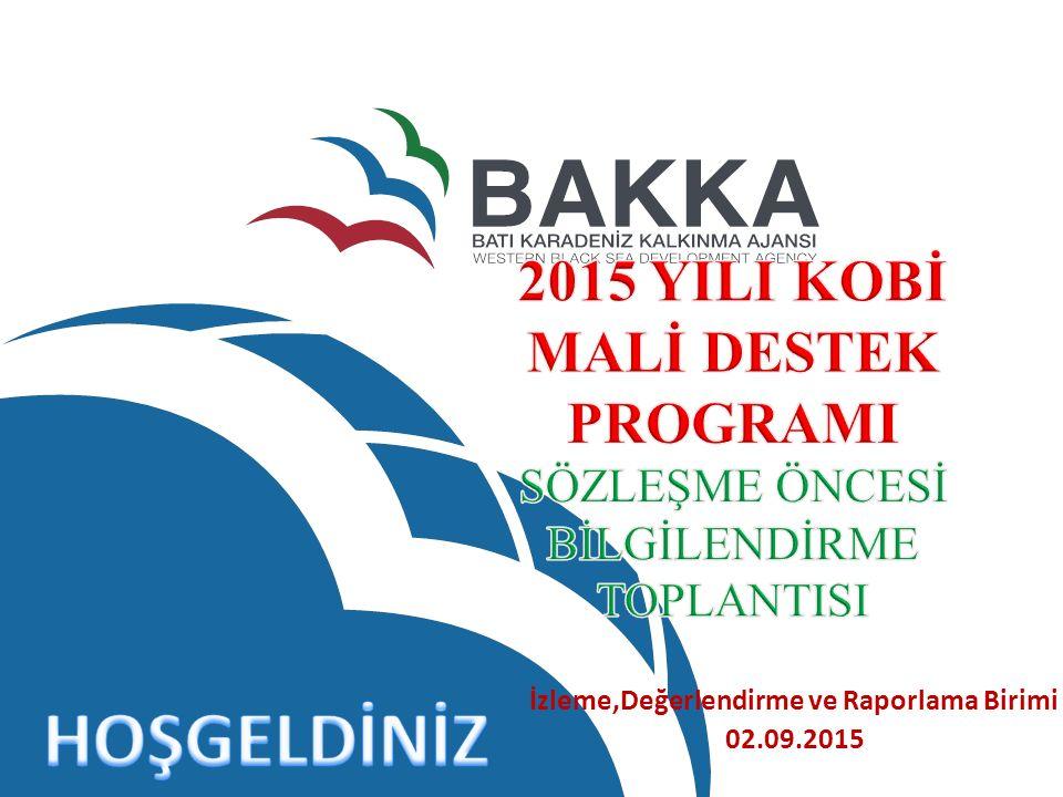 İzleme,Değerlendirme ve Raporlama Birimi 02.09.2015