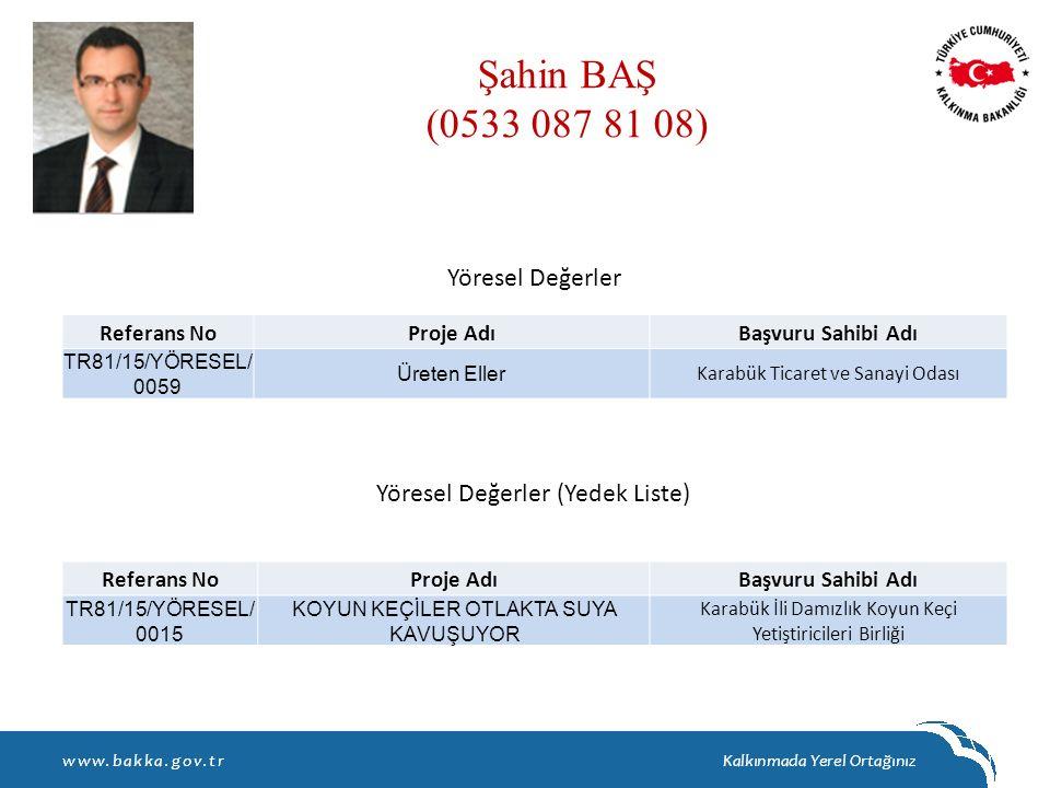 Şahin BAŞ (0533 087 81 08) Yöresel Değerler