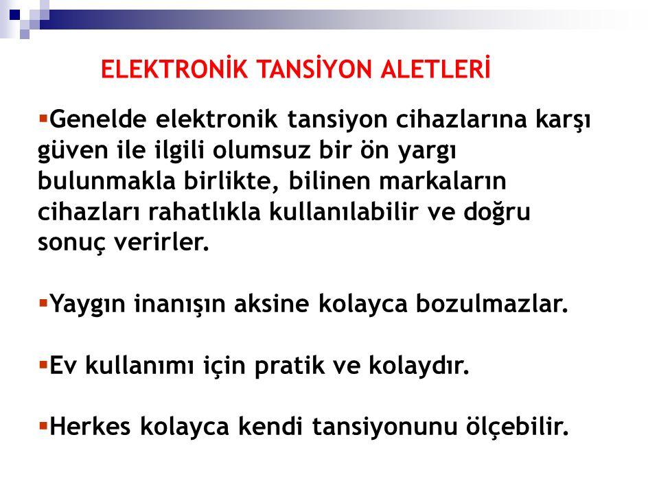 ELEKTRONİK TANSİYON ALETLERİ