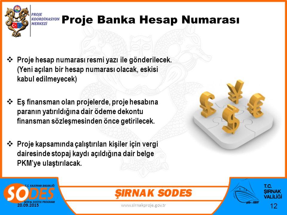 Proje Banka Hesap Numarası