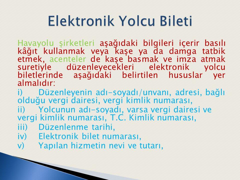 Elektronik Yolcu Bileti