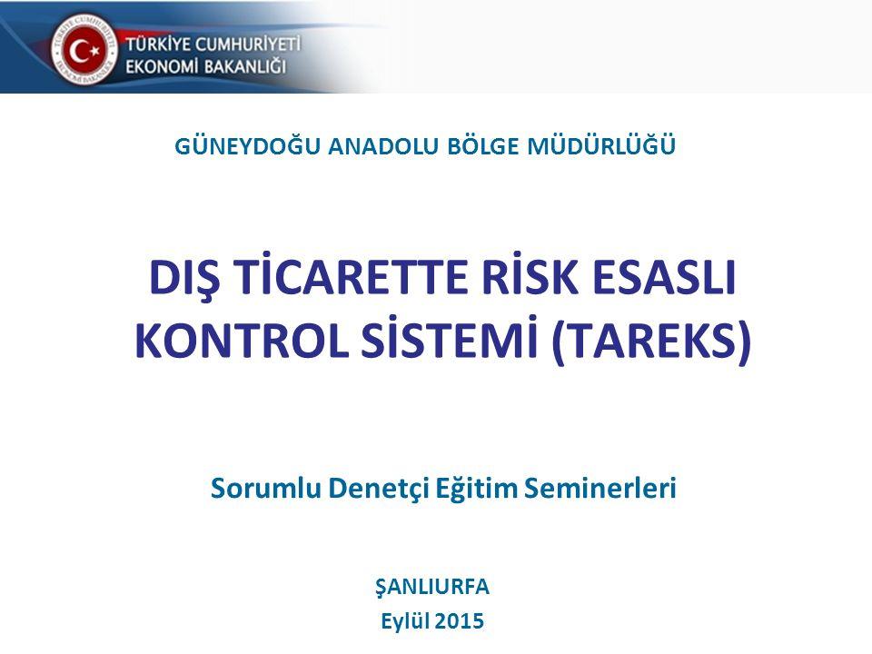 DIŞ TİCARETTE RİSK ESASLI KONTROL SİSTEMİ (TAREKS)