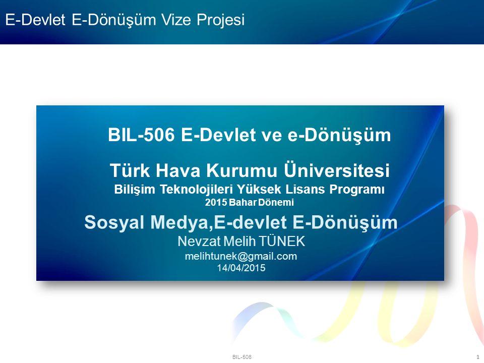 E-Devlet E-Dönüşüm Vize Projesi