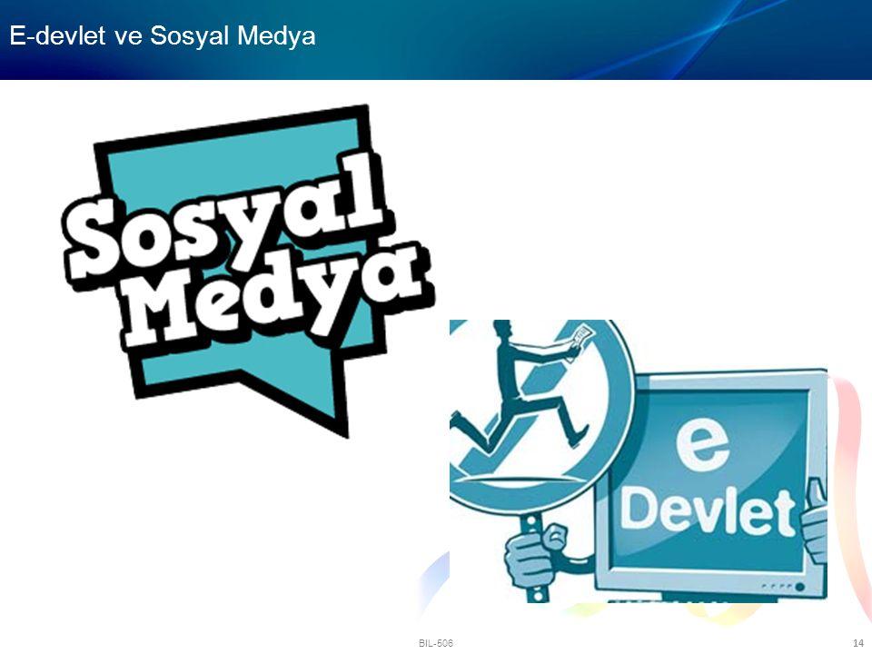 E-devlet ve Sosyal Medya