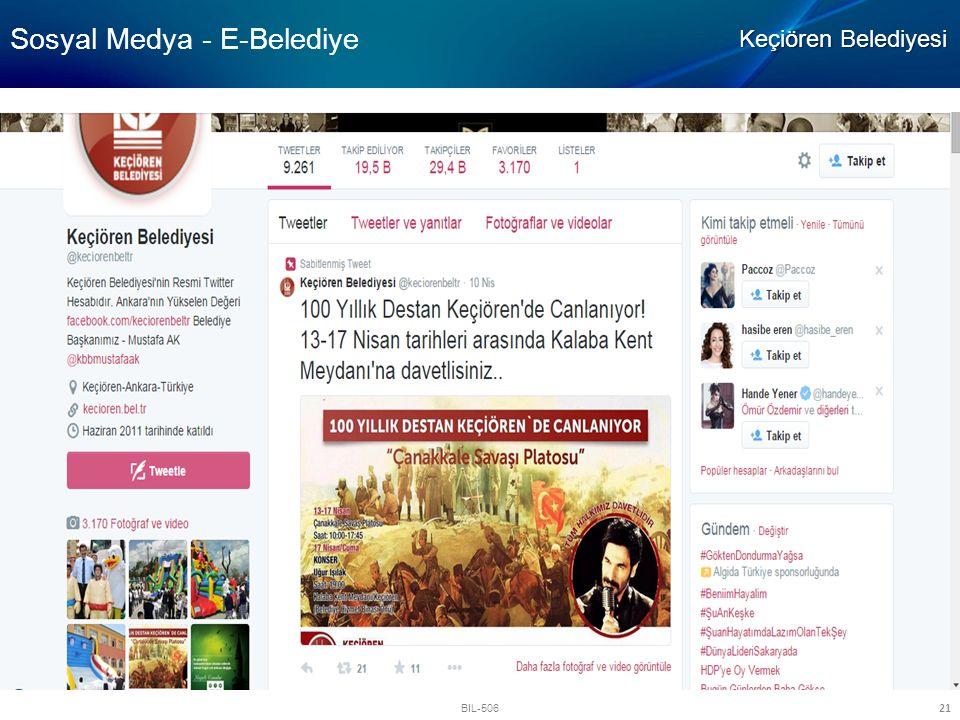 Sosyal Medya - E-Belediye
