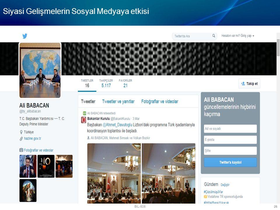 Siyasi Gelişmelerin Sosyal Medyaya etkisi