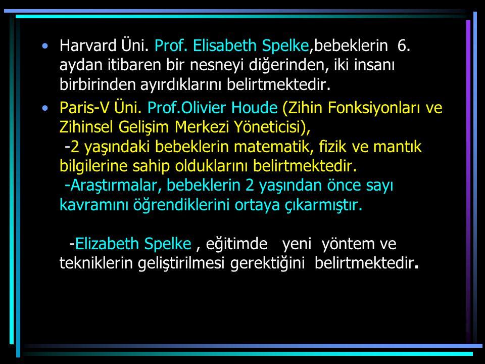 Harvard Üni. Prof. Elisabeth Spelke,bebeklerin 6